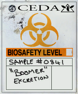 Bile bomb label