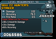 40 sg11 zz hunter's striker