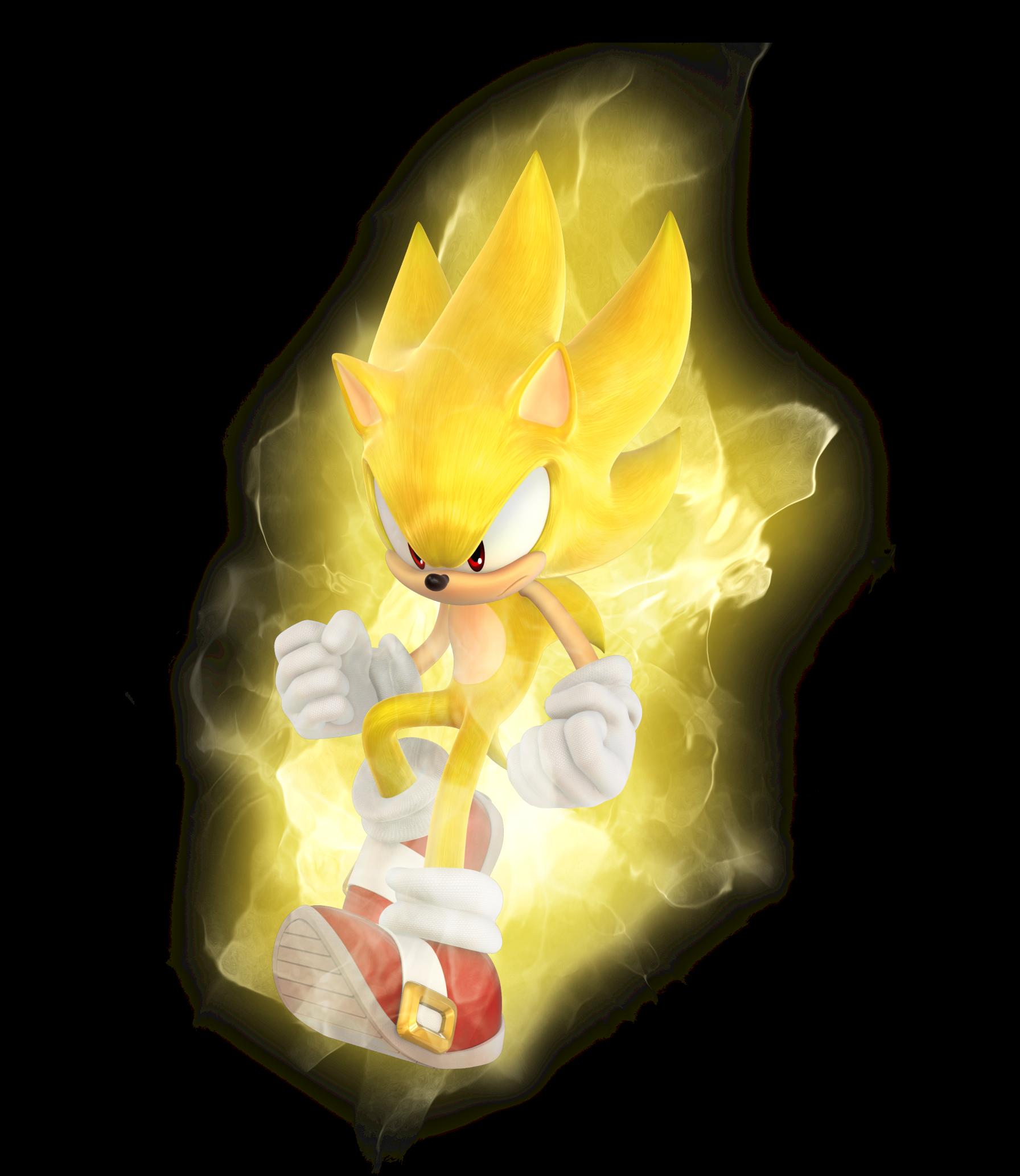 Галерея.  Super Sonic.  Официальный арт.