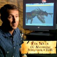 Ken Bryan (HP4 CG Modelling Supervisor - ILM) discussing the Dragon Task
