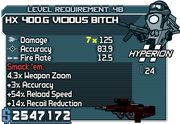Cheater hx 400-g vicious bitch 48