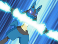 EP580 Lucario usando hueso veloz