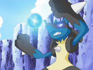 EP580 Lucario preparando esfera aural