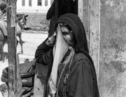 Beersheba Palestine, a veiled Arab woman