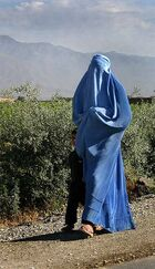 Woman walking in Afghanistan