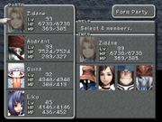 FFIX Party Screen
