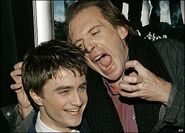 Daniel Radcliffe (Harry Potter) with Ralph Fiennes (Voldemort)