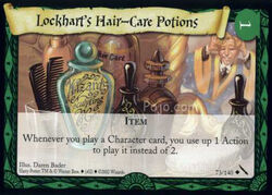 Lockharts Hair-Care Potions (Harry Potter Trading Card)