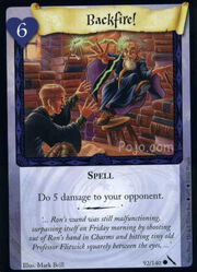 Backfire! (Harry Potter Trading Card)