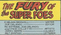 The Fury of the Super Foes (CB Story)