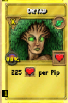 Dryad Treasure Card