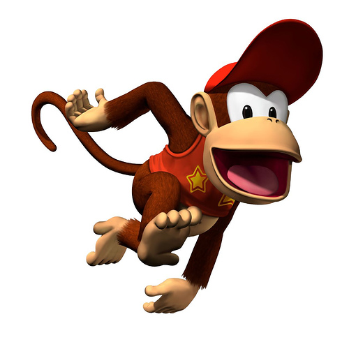 I predict SSB4's roster here. Diddy_kong