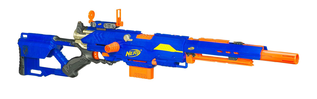 What characterises a Nerf gun? There's specifics from gun to gun, but in  general we're looking at: The diamond pattern in the ammo clip