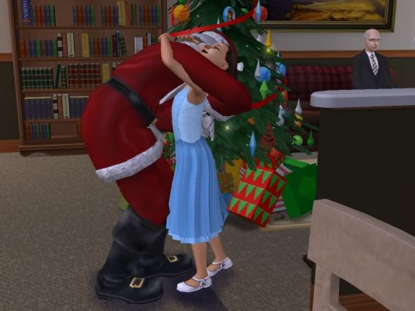 File:Santa hugging Lucy Burb.jpg. Featured on:Santa Claus, ...