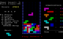 Tetris (IBM PC) Game Screen