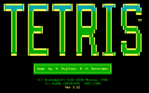 Tetris (IBM PC) Title Screen