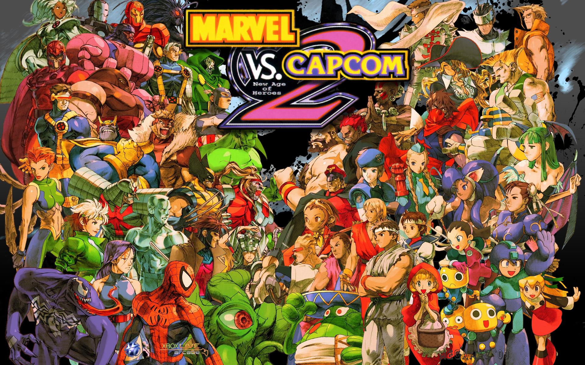 Marvel vs capcom 2 new age of heroes wallpaper capcom database