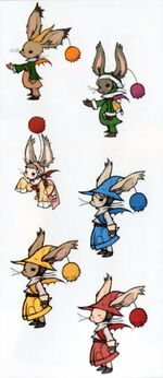 Six Moogle Siblings artwork