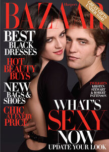 Robert Pattinson and Kristin Stewart Bazaar Cover