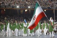 Iran flag bearers