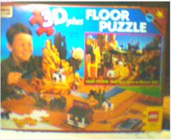 08098 Rose Art Floor Puzzle, Wild West, 3D
