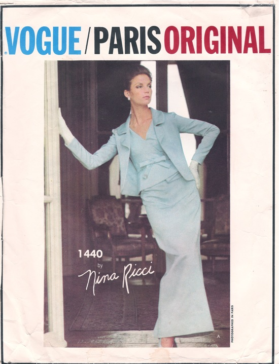 Vogue 1440 Nina Ricci evening dress and jacket pattern