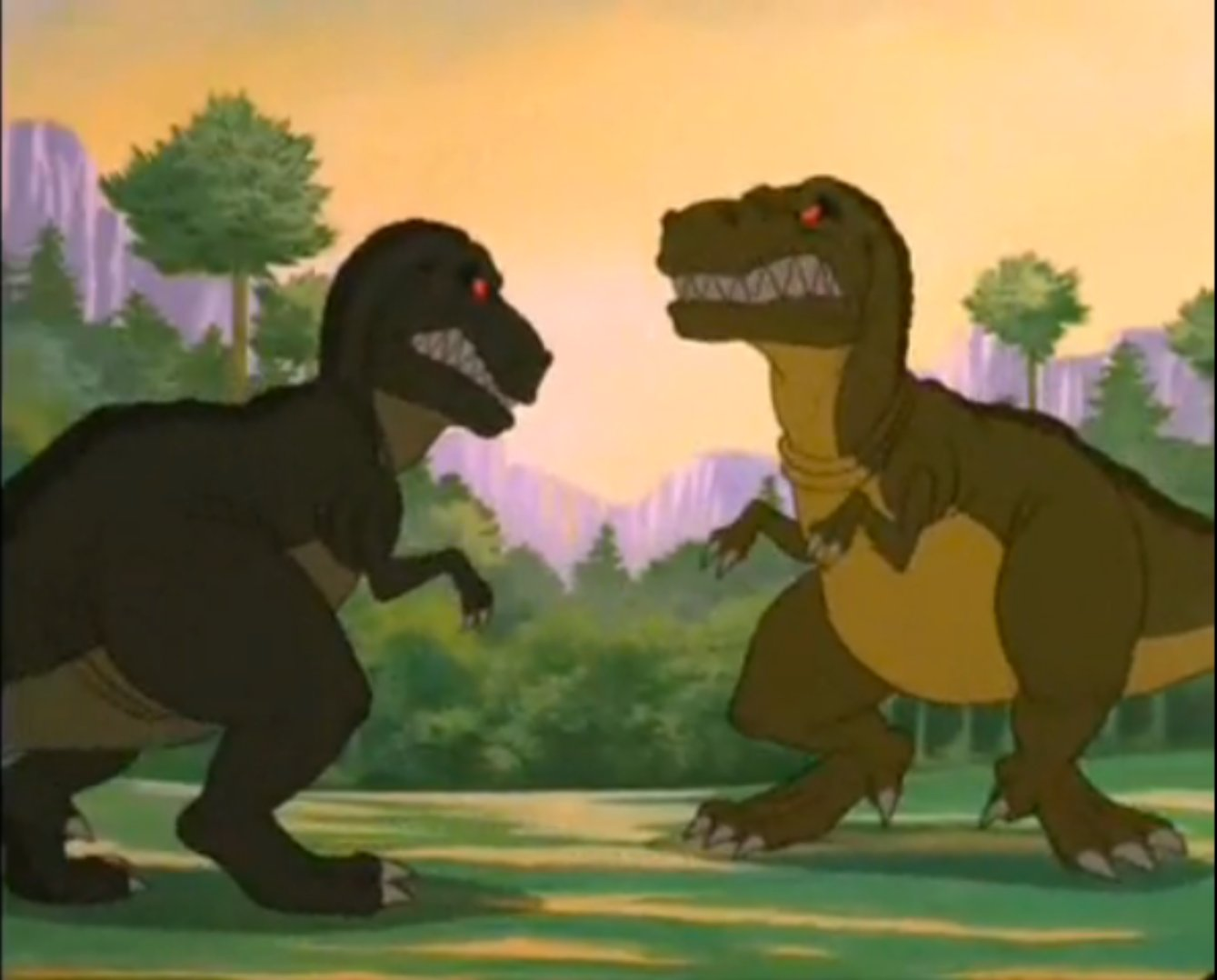 The Land Before Time T-rex_vs_T-rex