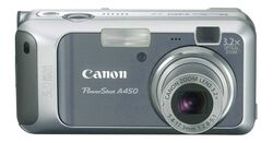 PowerShot A450 front