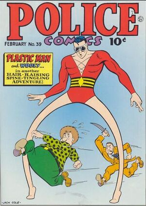 Cover for Police Comics #39