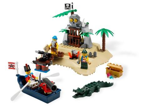 """""""Остров Сокровищ """" - набор серии  """"Лего Пираты """", включающий остров с причалом и пиратским фортом-сокровищницей..."""