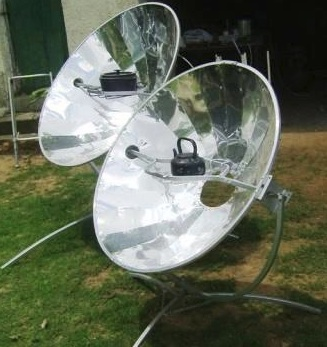 Olympus Flower parabolic solar cooker