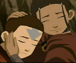 Katara en Aang in het Ontwaken