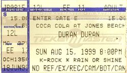 Duran ticket jones beach 99