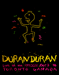 Duran-Duran-Live-At-The-Diamond 31 october 1988 poster