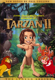 Simba, Timon, and Pumbaa's Adventures of Tarzan II poster