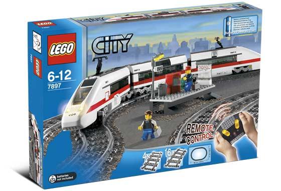 Пассажирский поезд 7897.  LEGO CITY.  Железная дорога.