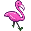 Hot Pink Flamingo-icon