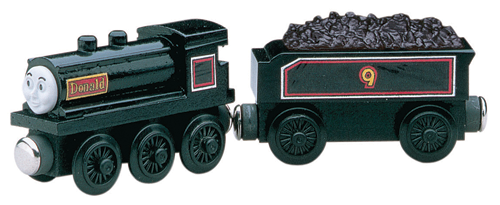 Wooden railway donald and douglas