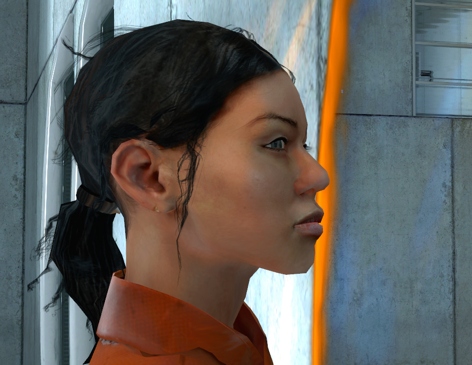 portal 2 chell redesign. hot portal 2 chell new look.
