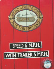 Garrett Logo on side of steam lorry cab IMG 0405