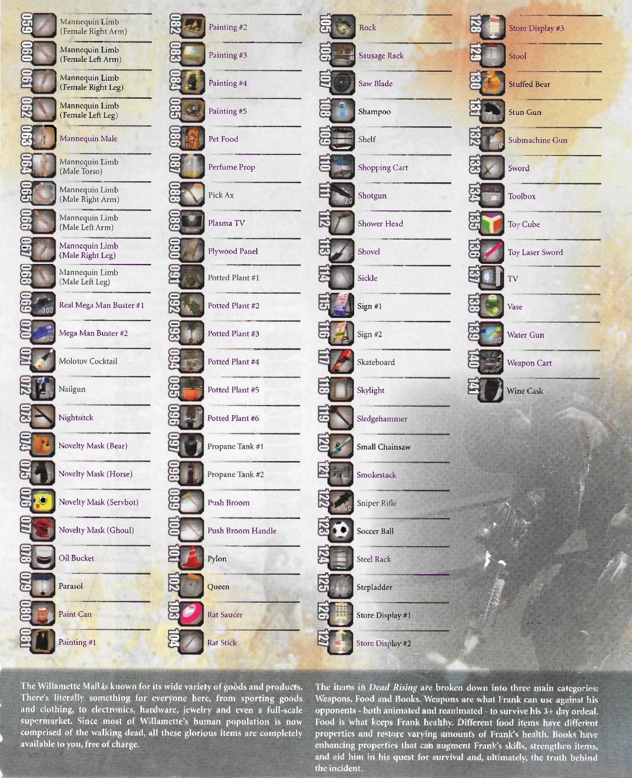 dead rising 3 weapon list - photo #2