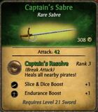 Captain's Sabre