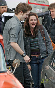 Robert pattinson kristen stewart new moon