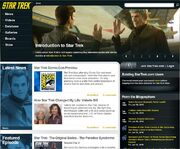 StarTrek.com homepage July 2010