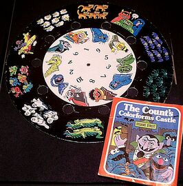 Count&#39;s Colorforms Castle thumbwheel j