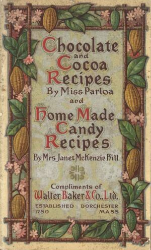 Chocolate and Cocoa Recipes By Miss Parloa
