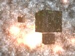 Borg cubes at the destroyed Borg planet