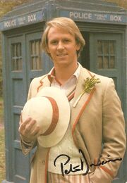 Peter davison signed postcard