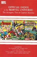 Avengers Thor &amp; Captain America Official Index to the Marvel Universe Vol 1 4