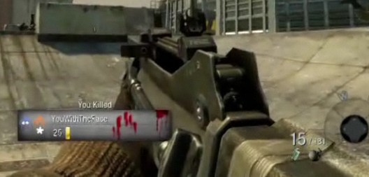 Egoview of the FAMAS from the Black Ops multiplayer trailer.